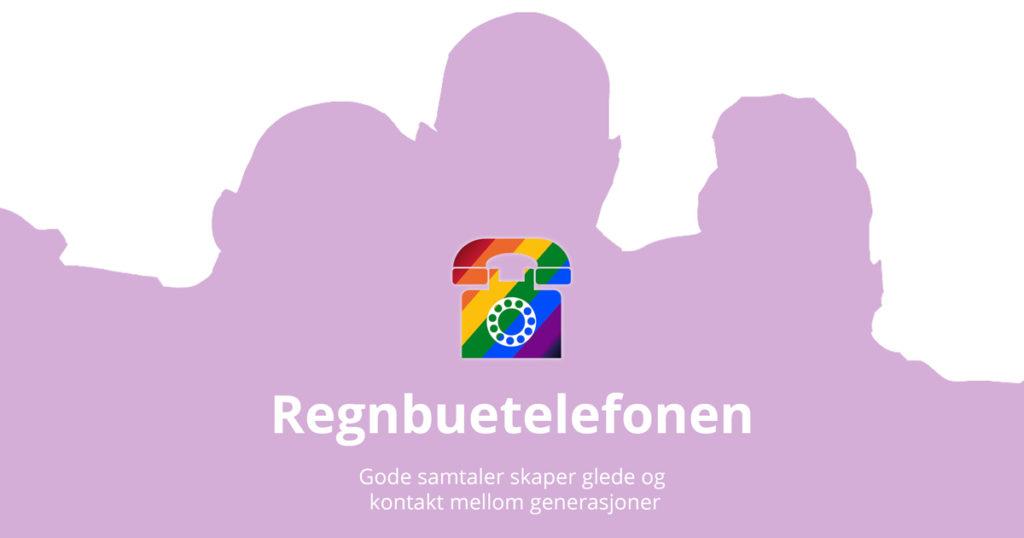 Regnbuetelefonen - gode samtaler motvirker ensomhet blant voksne skeive (lesbiske, homofile, bi/pan, inter- eller transpersoner).